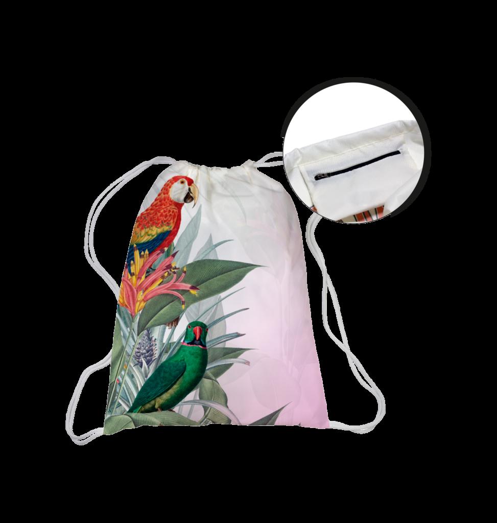 Beutel und Taschen mit vollflächigem Sublimationsdruck (Allover-Druck)